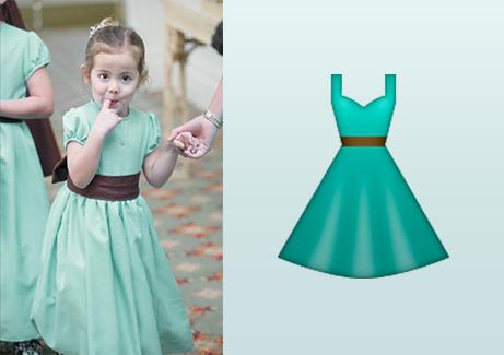 Inspiración para el emoji del vestido azul