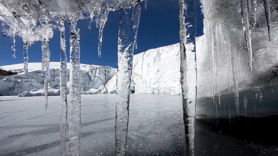 Glaciar Pastoruri en la Cordillera Blanca en Perú