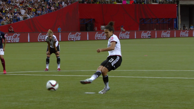 Celia Sasic levels for Germany from the penalty spot