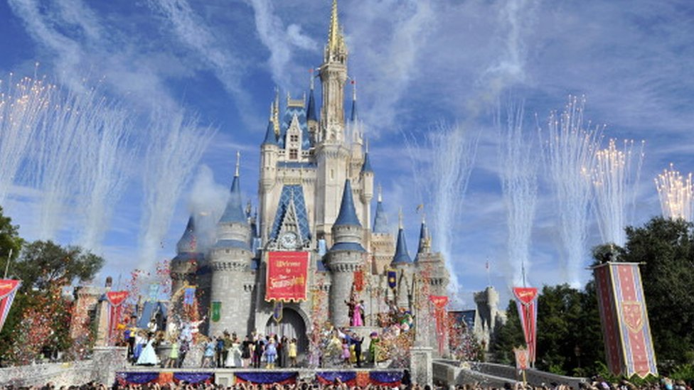 The Magic Kingdom at the Walt Disney World theme park in Florida