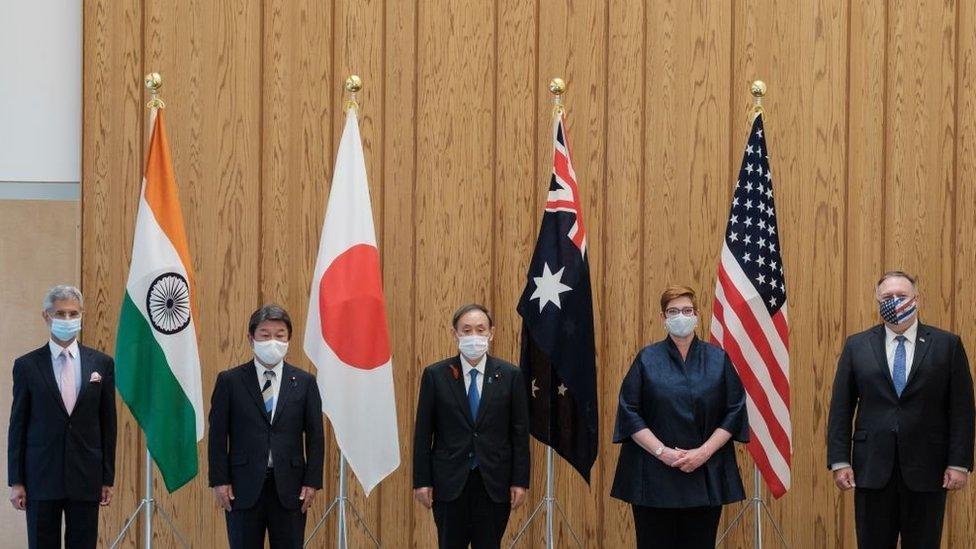"""تشكل الولايات المتحدة وأستراليا والهند واليابان مجموعة تعرف باسم """"الرباعية"""""""