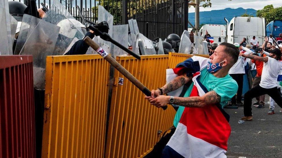 Protestas en Costa Rica