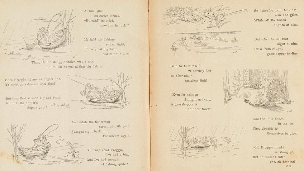 A Frog he would a fishing Go, first appearance , in Nister's Holiday Annual 1896