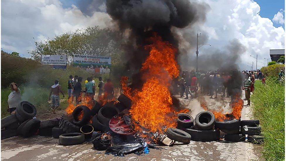 Incendio en Pacaraima