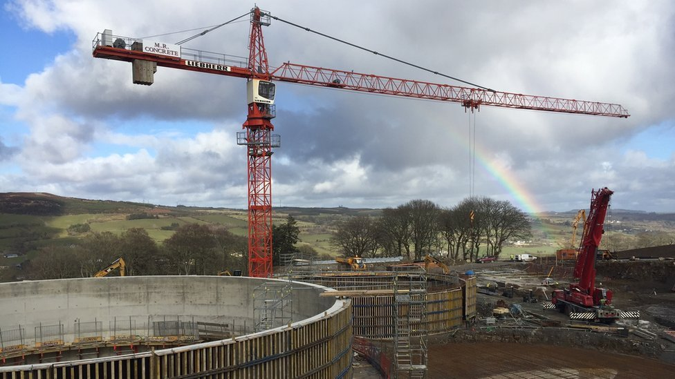 The anaerobic digester is being built near Ballybofey in County Donegal