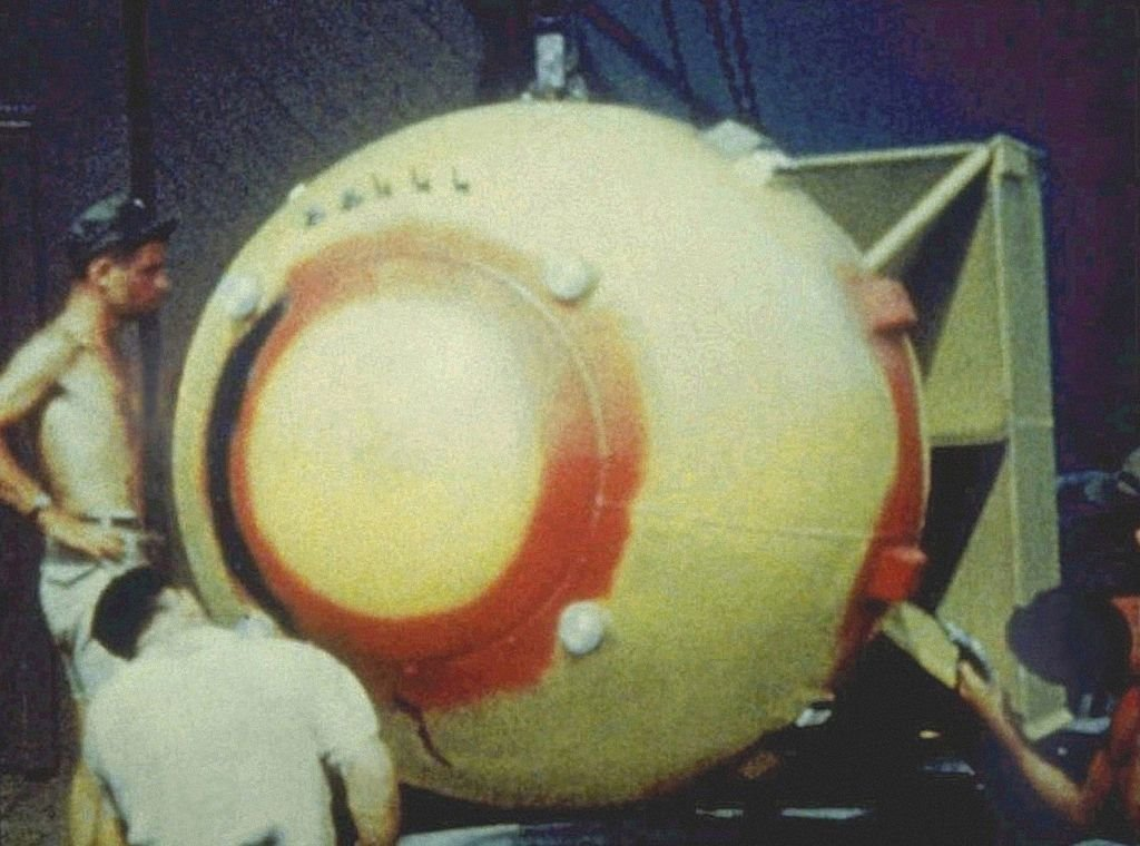 A picture of the plutonium atomic bomb