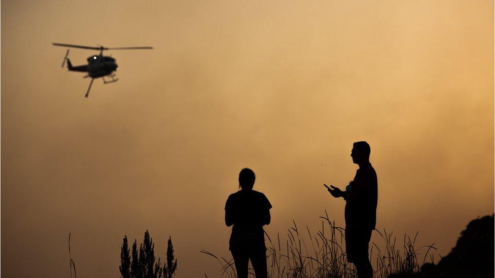 Puluhan titik kebakaran mengancam pemukiman di New South Wales, Australia.
