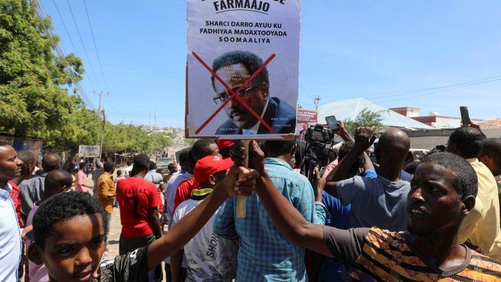 متظاهرون في الصومال