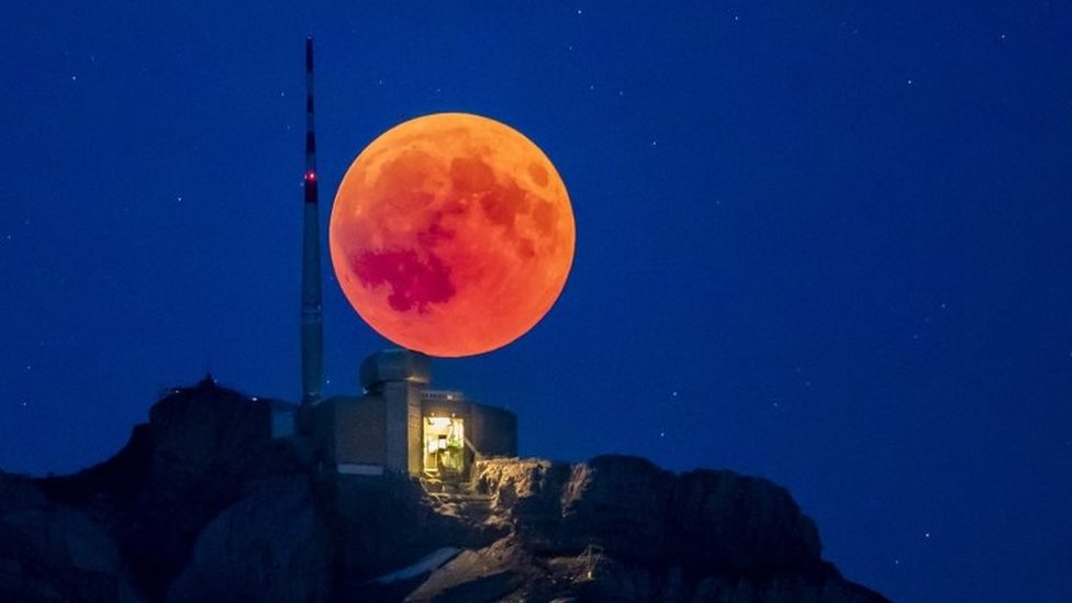 A chance to gaze at a 'ghostly' red moon - weather permitting