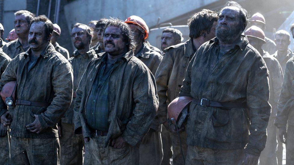 """Miners are portrayed in the mini-series as """"tough guys"""". There were about 400 of them digging the tunnel under the damaged reactor, over 200 of them were from Donbas region in the east of Ukraine."""