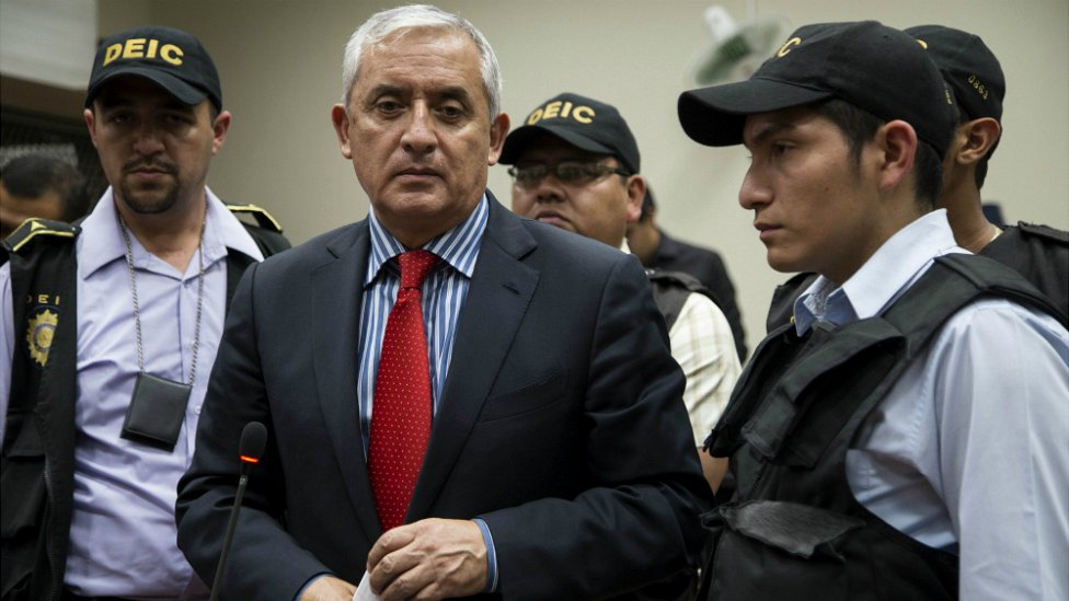 Former Guatemala President Otto Perez Molina at a court hearing in Guatemala City - 3 September 2015