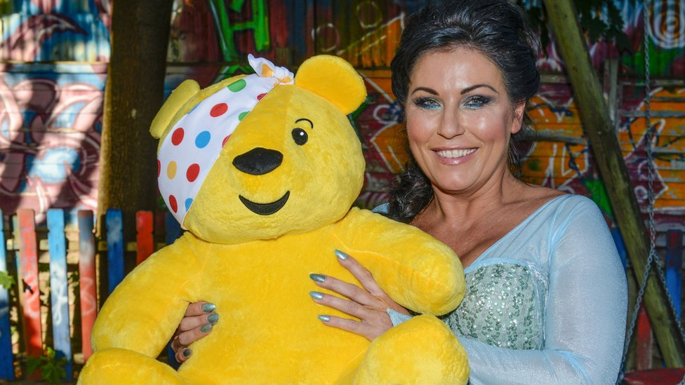 Jessie Wallace and Pudsey