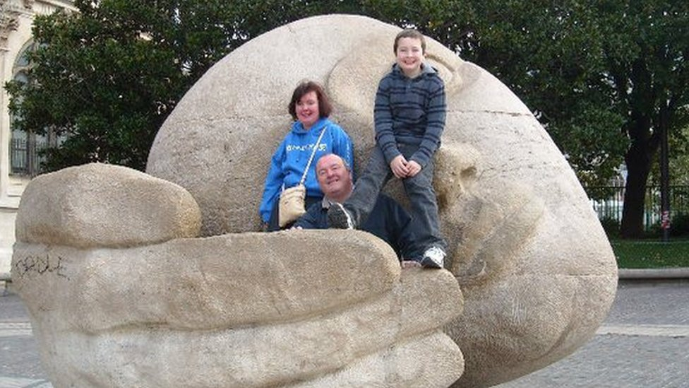 Emily with her dad, Michael, and her brother, Owain