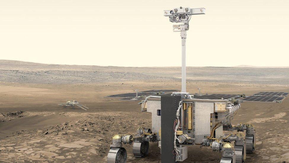 Ilustración del ExoMars Rover, que será lanzado en 2020
