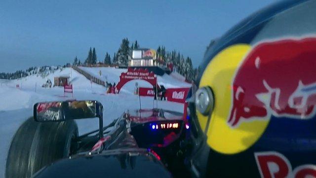 Verstappen hits the slopes in F1 car