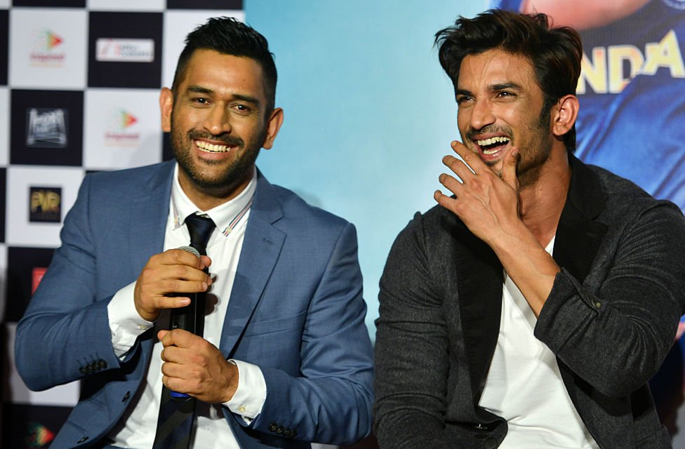 Sushant and MS Dhoni
