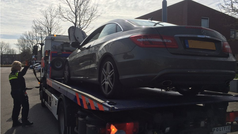Seized car (pic courtesy FIOD)