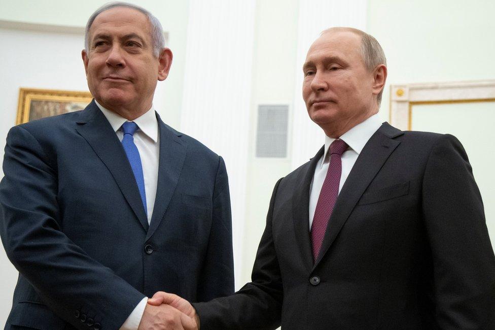 İsrail Başbakanı Binyamin Netanyahu ve Rus lider Vladimir Putin