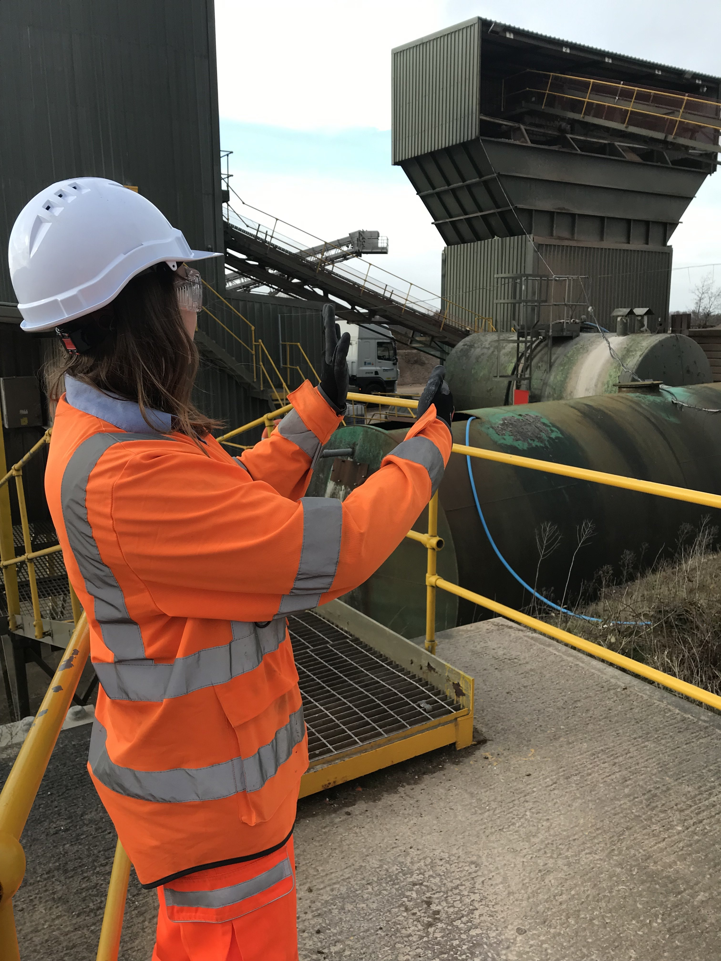 Emily at Weeford concrete plant