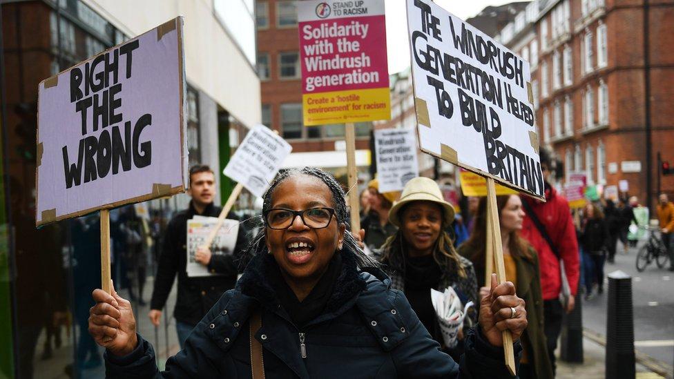 مظاهرة في لندن ضد العداء للمهاجرين