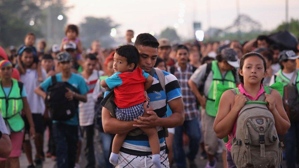 Migrantes en 2018 en México.