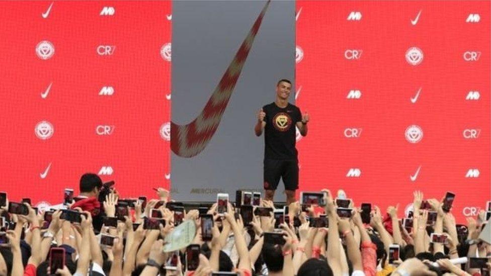 Nike занепокоєна звинуваченням Кріштіану Роналду в зґвалтуванні