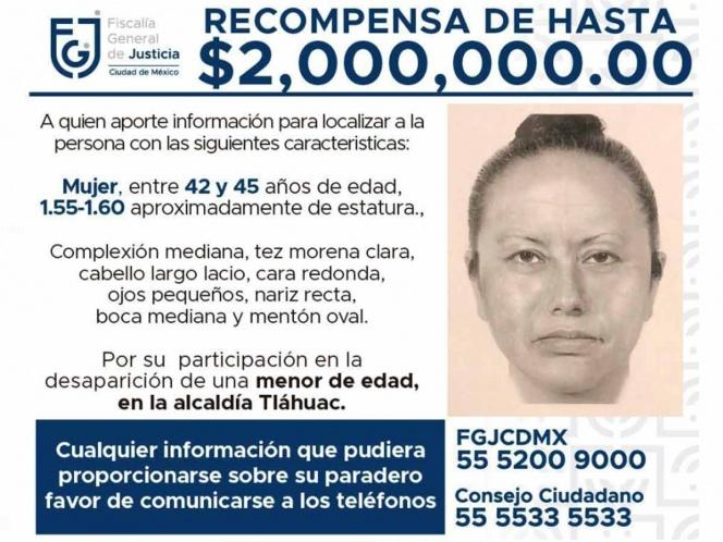 Un retrato de la sospechosa de rapto de Fátima