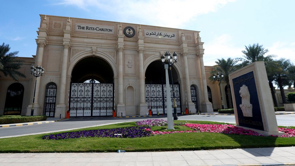 File photo of Ritz-Carlton hotel in Riyadh (27 September 2018)