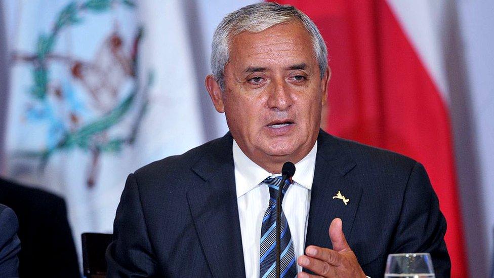 El expresidente guatemalteco Otto Pérez Molina.