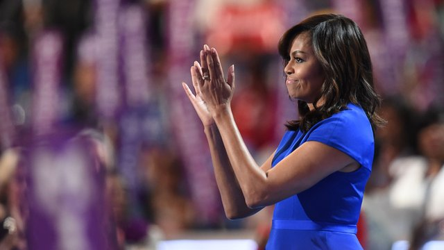 Michelle Obama rallied behind Hillary Clinton.
