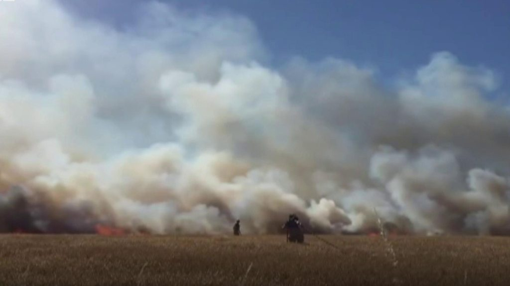 Field fires: Most dangerous harvest conditions in 60 years