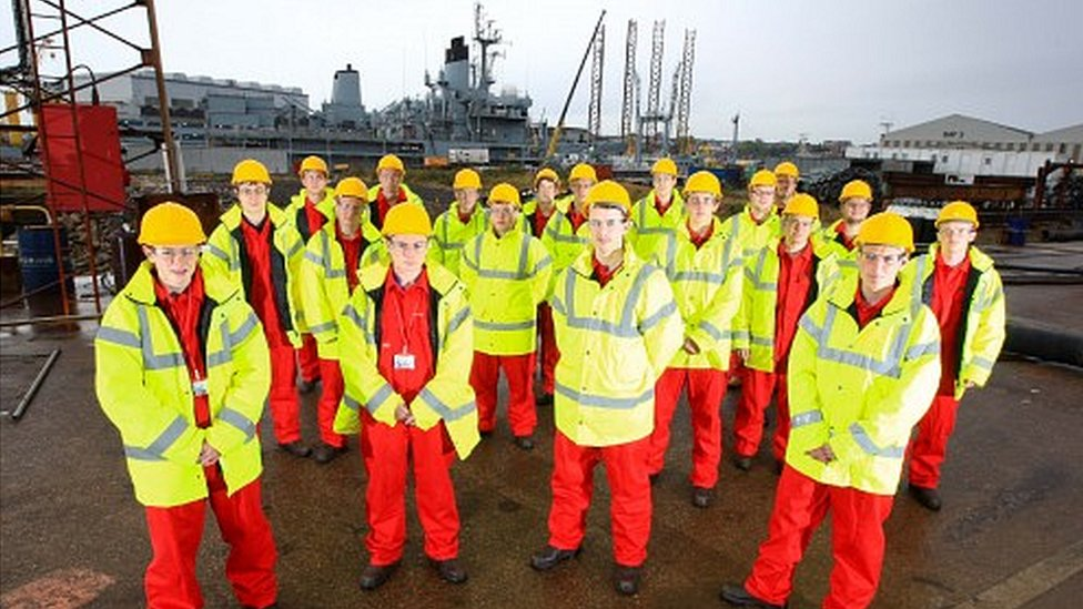 Apprentices at Cammell Laird