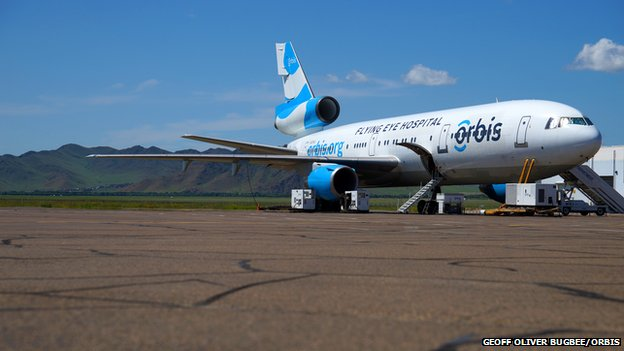 Aeroplane sitting on a runway