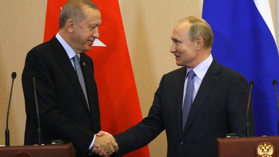 بوتين وأردوغان في 22 أكتوبر/تشرين الأول 2019
