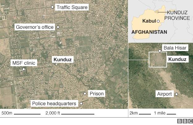 Map of Kunduz