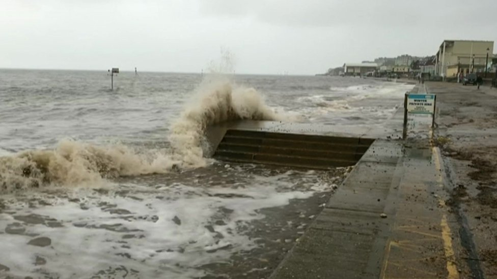 The high tide at Hunstanton