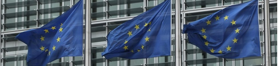 EU flags outside European Commission building