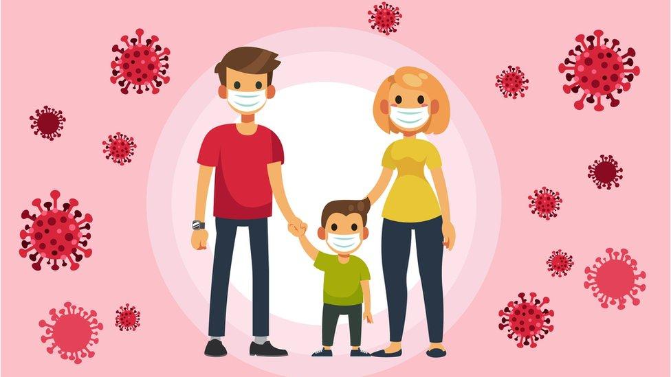 عائلة في زمن الكورونا