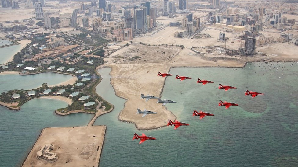 Red Arrows in Bahrain