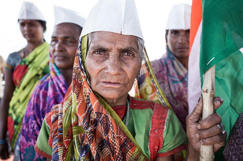 Tribal protestors in Jharkhand