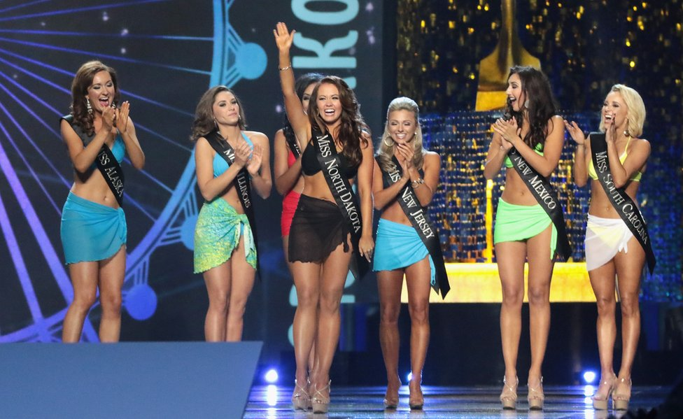 Contestants at the pageant