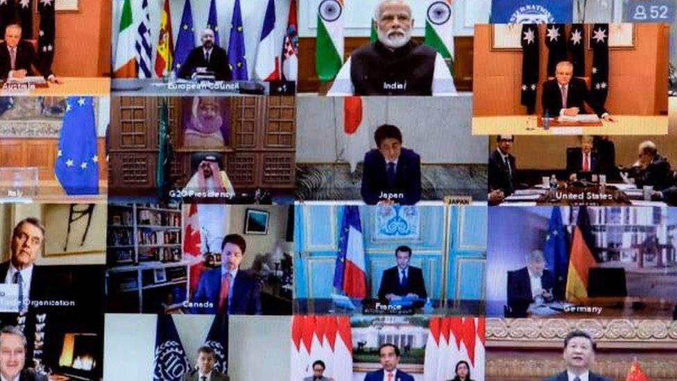 قادة الدول الأعضاء في مجموعة العشرين يعقدون قمة افتراضية لمناقشة التبعات الاقتصادية لتفشي وباء كورونا العالمي