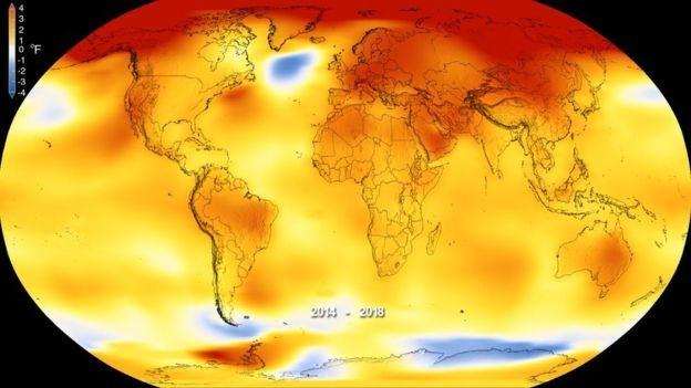 Mapa de anomalías en temperaturas