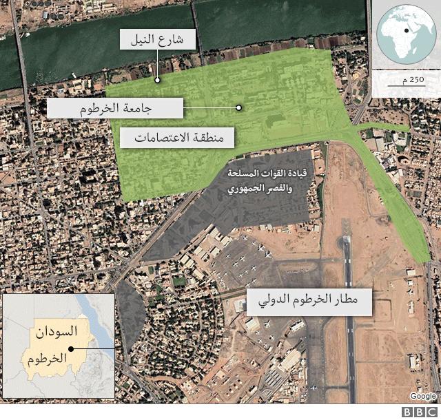 خريطة الخرطوم