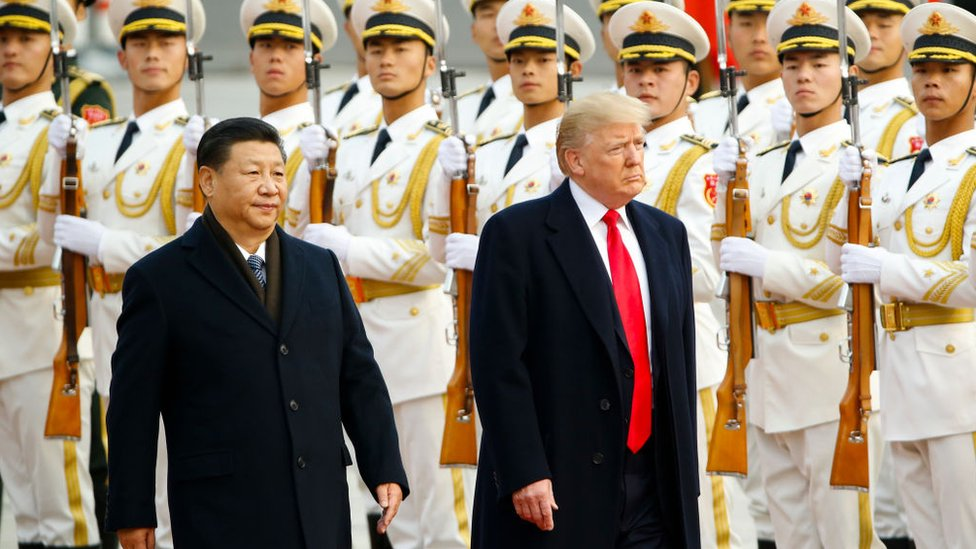 Xi Jinping y Donald Trump en China en 2019.