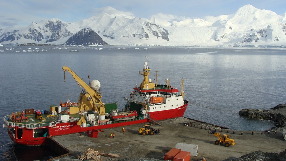 Rothera wharf 'kit of parts' heading to Antarctica