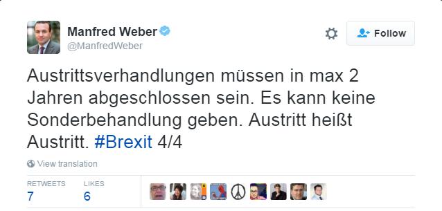 Manfred Weber tweet