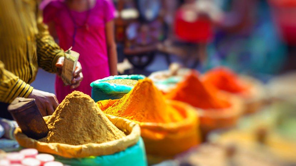 Especias en el mercado