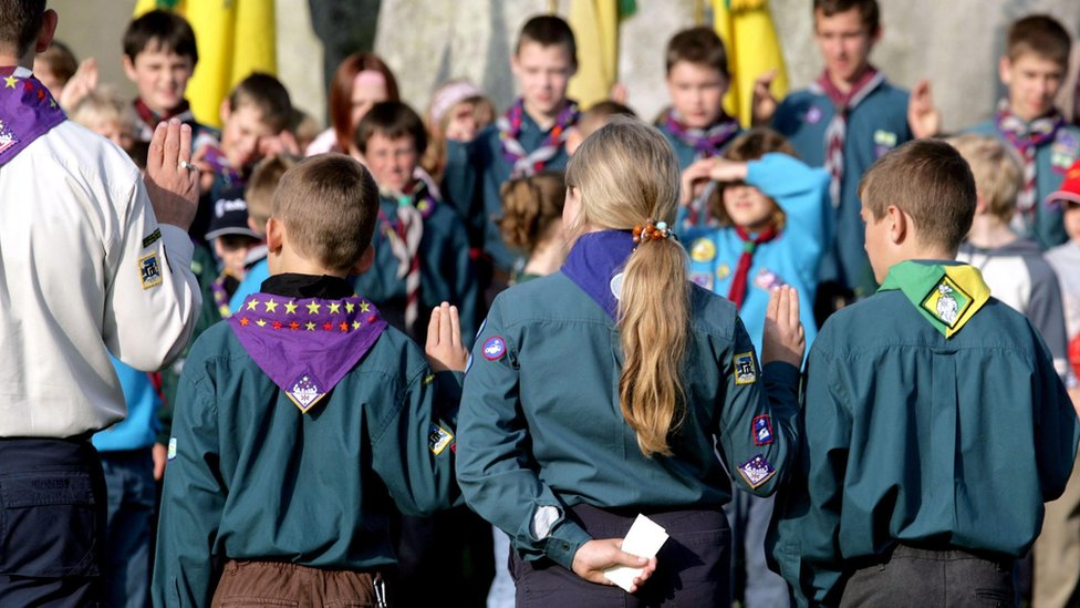 Scouts at Stonehenge
