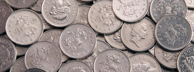 5 pence pieces